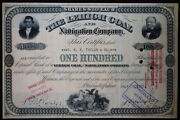 Us Lehigh Coal And Navigation Company Stock Certificate