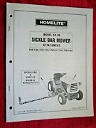 1973 Homelite Lawn Tractor Sickle Bar Mower Oper.parts And Service Manual 24809