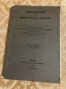 1924 Bibliography On Educational Finance Reviewed By Inquiry Antique Book