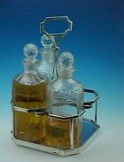 1803 Sterling Silver Decanter Caddy And 3 Decanters - Urquhart And Hart Of London