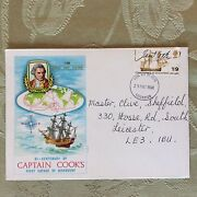 A2b Commemorative Fdc Stamp May 29th 1968 Captain Cook