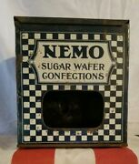 Vintage Nemo Sugar Wafer Confections Tin Store Display-cookie/candy Rare Piece