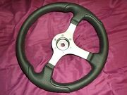 Nisida Boat Steering Wheel Silver Spokes Black Grip B/s D350 Without Center Cap