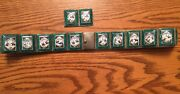 Rare Vintage Hand Painted Indo-persian Enamel Art Tiles 25 And Silver Story Belt