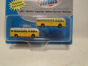 Classic Metal Works 52303 2 N Scale Gmc Tdh-3610 Transit Bus National City Line