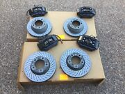Porsche 996 And 987 Boxster Cayman Complete F And R Black Calipers Rotors And Pads