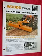Vintage Woods Rb600 Rb700rb800 Tractor Blade Spec Sheet Features Info Brochure