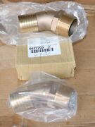 2 2x 2.5 Elbow 45 Degree Red Brass Mpt X Hose Barb Sea Ray Boat Yacht Strainer
