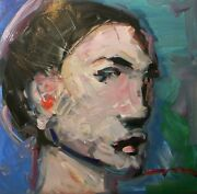 Jose Trujillo 24x24 Oil Painting On Portrait Impressionist Collectible Artist