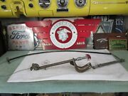 1955 1956 Mercury Emergency Brake Handle Mounting Bracket And Cable Complete Assy