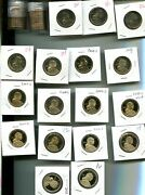 2000 - 2016 D S P Native American Dollar Set Bu And Proof 1764m