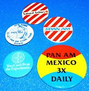 Vintage Pan Am Airlines Buttons Lot Of 5 Pin Paa Airline Collectible Rare