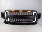 Grille Raptor Style For 2018 2019 Ford F150 F-150 And Amber Led Light Damon
