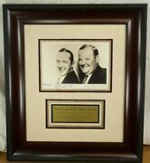 Laurel And Hardy Legendary Comedy Duo Autograph Photo Display Jsa Authenticated