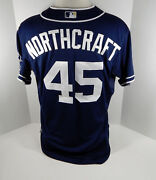 2015 San Diego Padres Aaron Northcraft 45 Game Issued Navy Jersey
