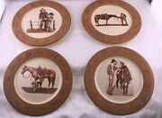 Montana Lifestyles Branded Paul Cameron Smith Cowboy Dinner Or Salad Plate Bowl