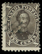 Momen Canada Stamps 16 Brown Black Used Sound
