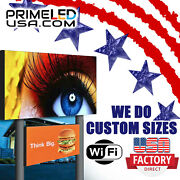 Led Sign Full Color P10mm Outdoor/indoor 25.25 H X 50.5 W Wifi+cellphone App