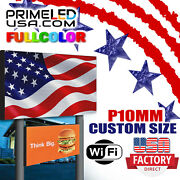 Led Sign Full Color P10mm Outdoor/indoor 19 H X 63 With Wifi And Temp Sensor