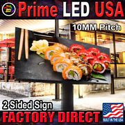 Led Sign Full Color P10mm Outdoor/indoor12.5 H X 88 W Wifi Cellphone App