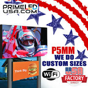 Led Sign Full Color P10mm Outdoor/indoor 19 H X 88 W Wifi Cellphone App