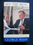 All The Best - Signed By Pres. George Bush To Film Exec Jack Valenti - 1st In Dj