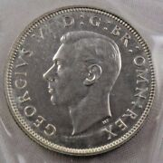 1937 Great Britain Uk 2 Two Shillings Silver Coin In Cello Packaging