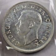 1937 Great Britain Uk Crown Silver Coin In Cello Packaging
