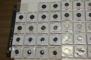 Collection Lot Of 83 Coins From Danemark 1800s 1900s