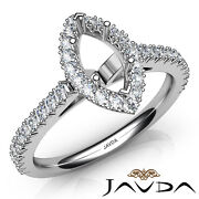 French V Cut Pave Set Diamond Engagement Marquise Womenand039s Semi Mount Ring 1ct.
