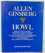 Allen Ginsberg Howl 1986 Original Draft Facsimile Barry Miles Author Annotated