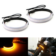 Universal Wrap Around Mount Amber Led Turn Signal Light Strips For Motorcycle