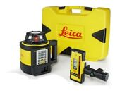 Brand New Leica Rugby 870 Rotating Laser W/ Rodeye 120 And Alka Battery Pack