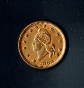 Cwt 1863 Army And Navy Red Brown Uncirculated Capped Bust Facing Left 11-298