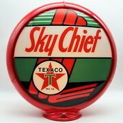 Texaco Sky Chief 13.5 Gas Pump Globe - Ships Fully Assembled Made In The Usa