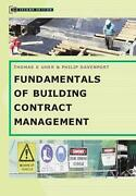 Fundamentals Of Building Contract Management By Thomas E. Uher English Paperba