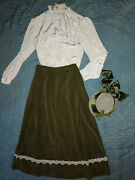Victorian Edwardian Costume Size 12 Hat Titanic Music Man Theater Outfit Skirt