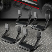 For Ford/chevy/gmc/dodge 4x Black Powder-coated Cast Aluminum Side Steps/bar