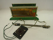 American Flyer Pre-war 2029 Whistling Billboard With Control Button And Hookup