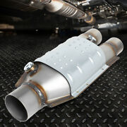 Universal Weld On 15.25x6x4 Catalytic Converter Exhaust Pipe 2.25 / 2 Inlet