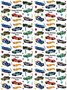 Hot Wheels Cars Personalised Birthday Gift Wrapping Paper 3 Designs Add Name