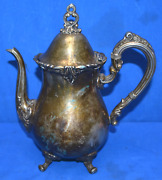 1951 Reed And Burton Teapot El Greco Holloware Siverplate - Pre Owned Really Good