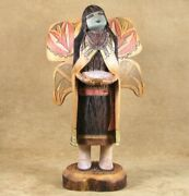Navajo/hopi Wendell Yazzie Silas Vintage 12 Butterfly Maiden Kachina Doll C80s