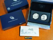 2013 W Reverse Proof And Enhanced Silver Eagle 2 Coin West Point Set With Box/coa
