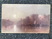 George Washington Nicholson American Oil Painting Sunset Italy Great Color