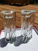 Flawless Baccarat Crystal Odilon Candle Holders-used One Time-sold As A Pair