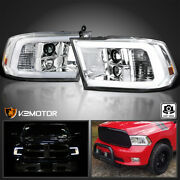 For 2009-2018 Dodge Ram 1500 2500 3500 Led Tube Projector Headlights Lamps L+r