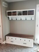Entryway Cubby And Bench Wall Storage Cubical With Matching Bench Hallway Coat
