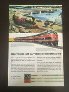 1945 General Motors Railroad Vintage Transportation Ad Wwii Collectibles