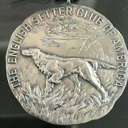 Art Deco Sterling Silver The English Setter Club Of America Awards Medal 1920